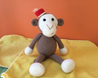 Handmade crocheted animals - Cheeko the Cheeky Monkey