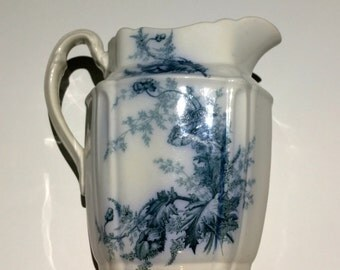 Vintage Pitcher: Johnson Bros, England, Royal Semi Porcelain, Paris, 29