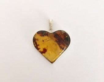 I said heart Silver 925 with amber