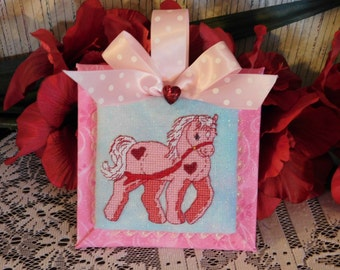 Cross Stitch PDF pattern February Pony
