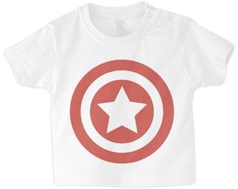 Captain America Superhero Baby T-Shirt