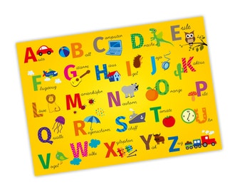 Children learning poster ABC alphabet A3 / A2 / A1 * nikima * in 3 different sizes posters