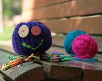 Way Too Happy Purple Octopus
