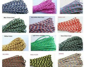 100 FT 550 pound test paracord 7 inner strands 48 Colours polyester free shipping worldwide