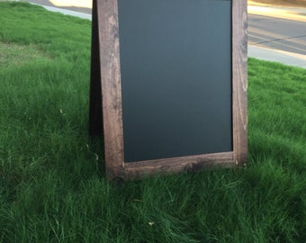 "Rustic A-Frame Chalk Board 36""x30"", Sandwich Chalk Board, Easel, Sign, Chalkboard Sign, business sign, christmas gift"