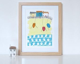 Seaside Town Print