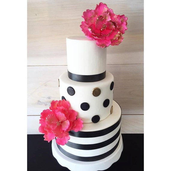 Etsy Cake Decor : Kate Spade Inspired Cake Decorations by CraftedBaking on Etsy