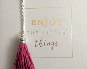 SALE Tassel keyring, burgundy keychain, tassel bag accessories