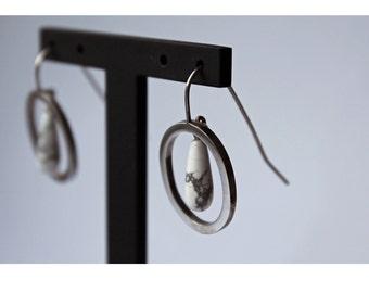 Howlite Drop Earrings Chandelier Style Tear Drop