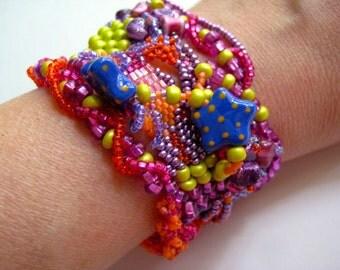 Funky Chunky Beaded Bracelet