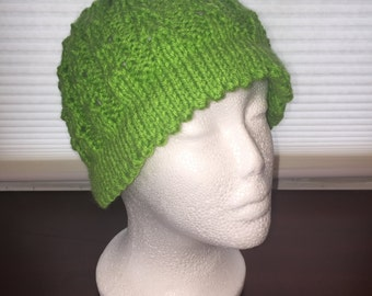 Knit Hat spring green 101