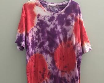 Purple and Blue tye dye top