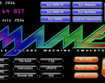 98,173 MAME + SEGA + Nintendo Games in 1 for Windows on a 128GB USB No Install!!