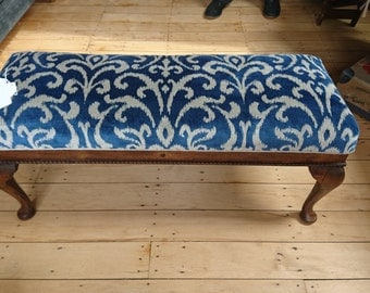 Antique Footstool reupholstered