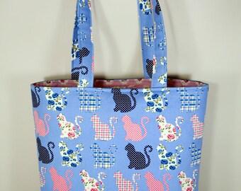 Veronica Blue Cats Tote Bag