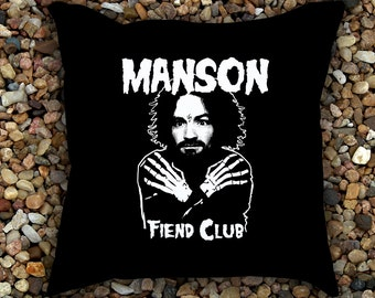 Charlie Manson Fiend Club Pillow