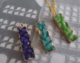 Druzy necklace with pendant