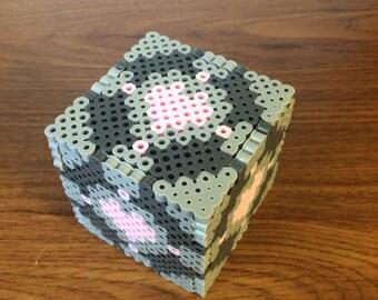 Perler Bead 3-D Companion Cube