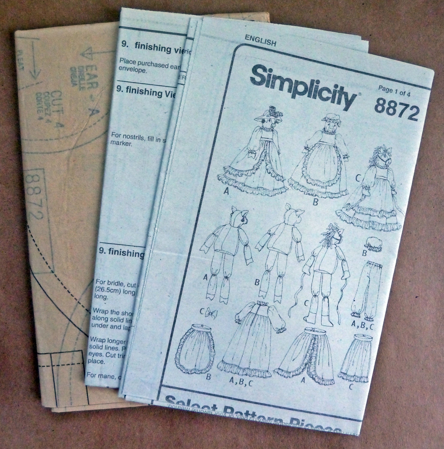 Animal draft stopper sewing pattern uncut simplicity 8872 cow get shipping estimate jeuxipadfo Images