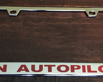 Personalized Die Cast Metal License Plate Frame