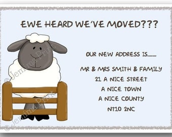 new home moving change of address announcement housewarming