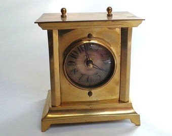 Timeworks Inc. Vintage Brass Tabletop Clock