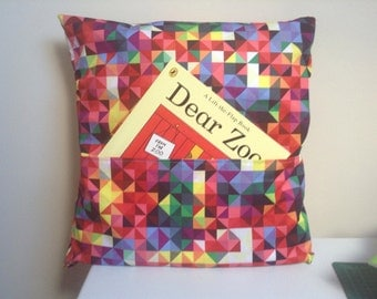 """Childrens reading cushion with """"Dear Zoo"""" book"""