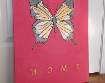 West Virginia Wild & Wonderful Butterfly 16x20 Painted Poster
