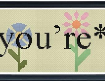 You're* Cross Stitch Pattern