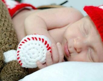 Newborn baseball photo prop set