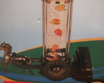 Collectible vintage lamp, phone, clock, play fish tank all in one
