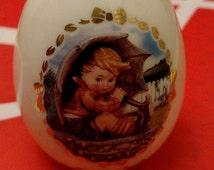 "The M.J. Hummel Porcelain Egg Collection ""Umbrella Boy"". The Danbury Mint @1996"
