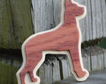 Bubinga Great Dane Magnet