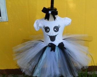 Boo Girl- Ghost tutu set halloween costume