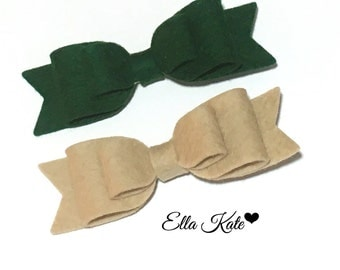 Felt bow hair clips, baby headbands, hair clips, girls headbands, felt bows
