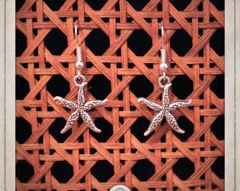 Sea Star earrings silver nautical BOA026