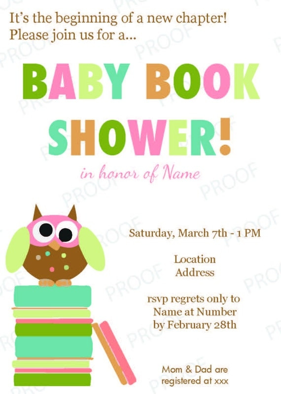 Baby Shower Invitation - Book theme