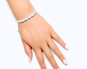 Porcelain Ball Braid Bracelet
