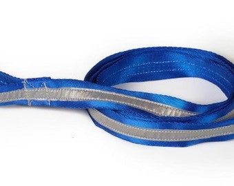 Blue Nylon Reflective Dog Leash