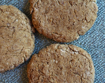 Two Dozen Ginger Snap Protein Cookies- Vegan, Vegetarian, Gluten Free, Sugar Free, Paleo, Clean Eating