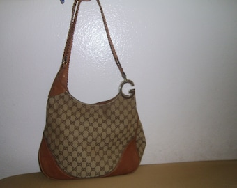 items similar to vintage authentic gucci logo bag on etsy
