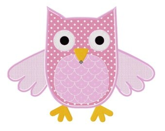 Embroidery machine owl 3D