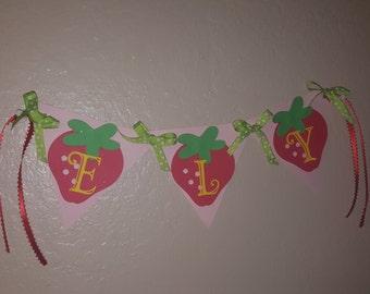 Strawberry Theme Name Banner