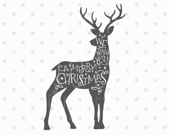 Merry Christmas SVG Christmas Deer Svg Christmas SVG Deer ...