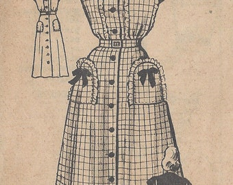 "1940s Vintage Sewing Pattern DRESS B34"" (R216) Marian Martin 4610"