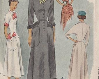 "1949 Vintage Sewing Pattern B35"" DRESS (R325)  McCall"