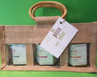 Any 3 jars and a Jute Gift Bag