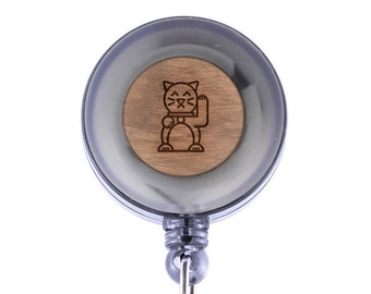 Chinese Cat Badge Holder with Retractable Reel, Badge Holder, Personalized Badge Holder, Corporate Gifts