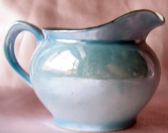 Vintage pitcher, Lusterware Pale Blue, Made in Germany