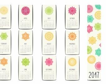 Year Calendar, Year Planner, Planner Stickers, EC Planner.